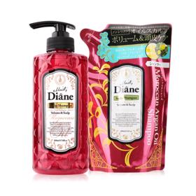 Moist Diane Volume & Scalp Shampoo 500ml (Free! Refill 400ml)