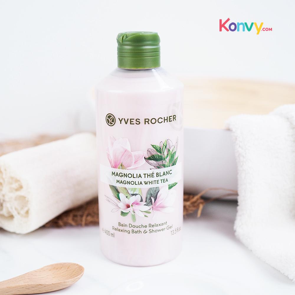 Yves Rocher Relaxing Bath & Shower Gel 400ml #Magnolia White Tea_1