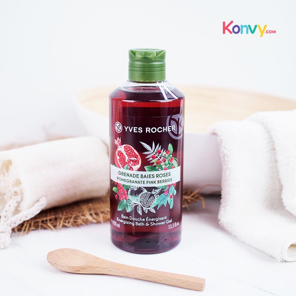 Yves Rocher Energizing Bath & Shower Gel 400ml #Pomegranate Pink Berries_1