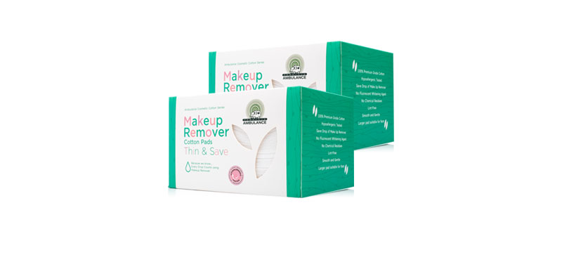 แพ็คคู่ Ambulance Cosmetic Pads Thin & Save (120sheets x 2pcs)