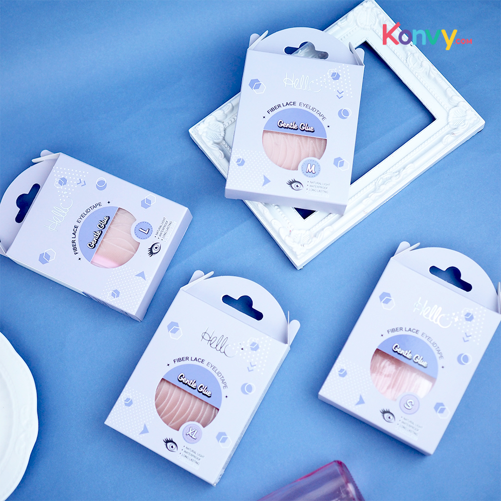 HELLO Fiber Lace Eyelid Tape Gentle Glue #L (Normal Pack)_1