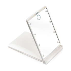 K-Select LED Compact Cosmetic Mirror #White