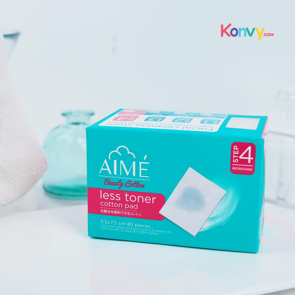 Aime Less Toner Cotton Pad 80pcs_1