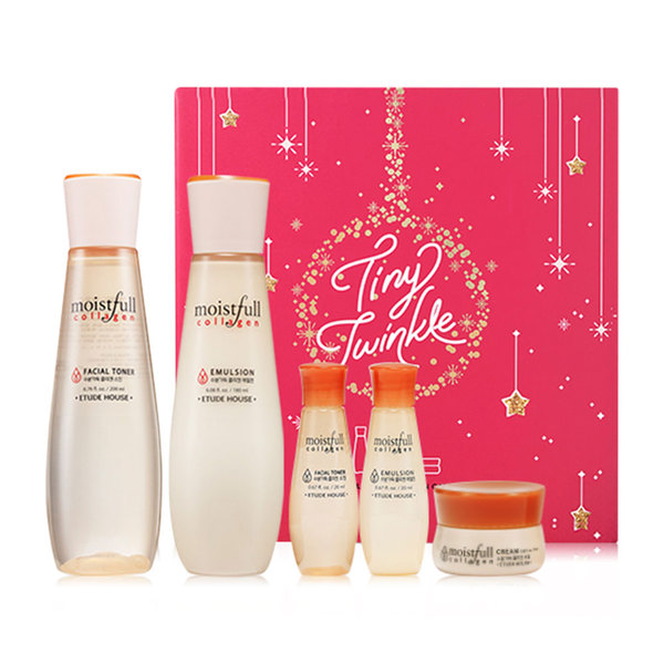 ff5d2db690 Etude House Tiny Twinkle Moistfull Collagen Skin Care Set Holiday  Collection · >>>>