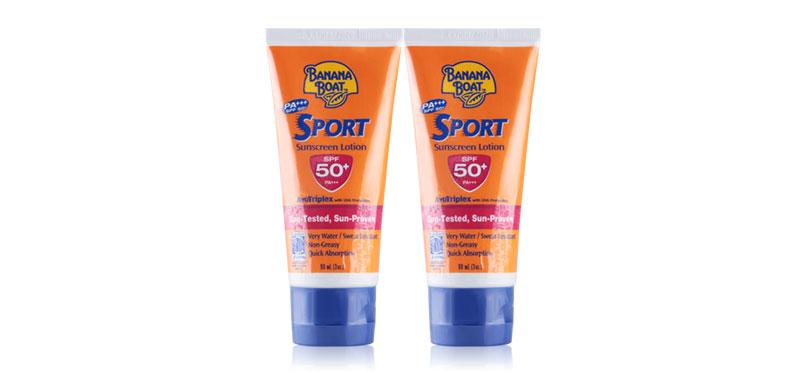 ซื้อ 1 แถม 1 Banana Boat Sport Sunscreen Lotion SPF50+PA+++ (90mlx2pcs)