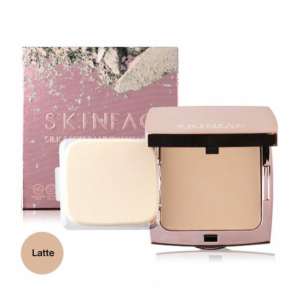 Skinfac Silk Satin Iluminant Skin Compact Powder 12g #Latte